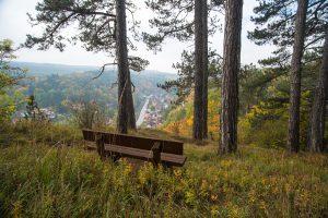 """Auf dem """"Schornsteinberg"""" hoch über Rübeland befindet sich auch eine Stempelstelle der Harzer Wandernadel. Foto: djd/Tourismusbetrieb der Stadt Oberharz am Brocken - Rübeländer Tropfsteinhöhlen/J.Reichel"""