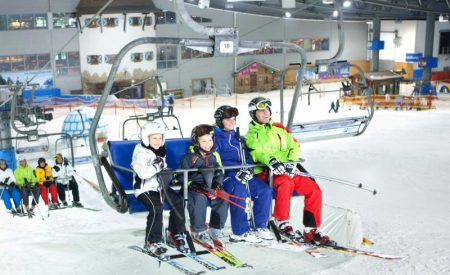 Wintersport in der Skihalle Neuss