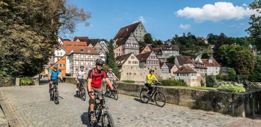 Der Kocher-Jagst-Radweg bietet alternative Routenvarianten für den Aktivurlauber